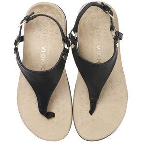 Vionic Black Kirra Backstrap Sandals